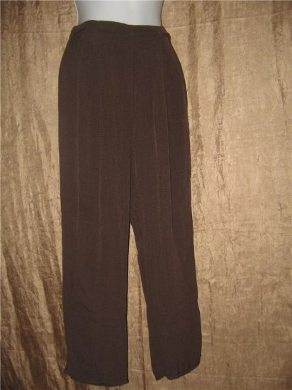 FLAX by Jeanne Engelhart Long Textured Rayon Pants Petite P