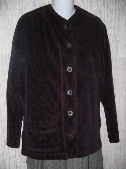 KINDRED SPIRIT Purple Corduroy Velour Jacket Top Small S