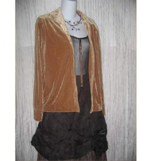 Harve Bernard Softest Faun Velour Tunic Jacket Small S