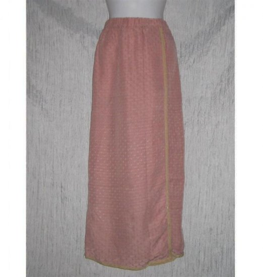 C WALL Funky Pink Long Wrap Skirt Boutique Size 2 M L