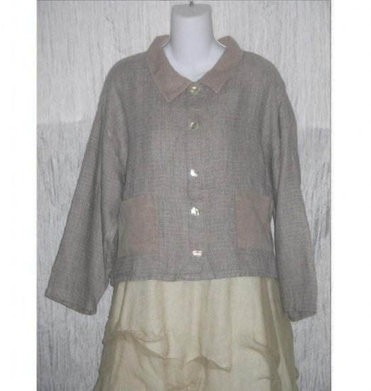 ALYWEAR Aly Wear Earthy LINEN Button Jacket Shirt Top M