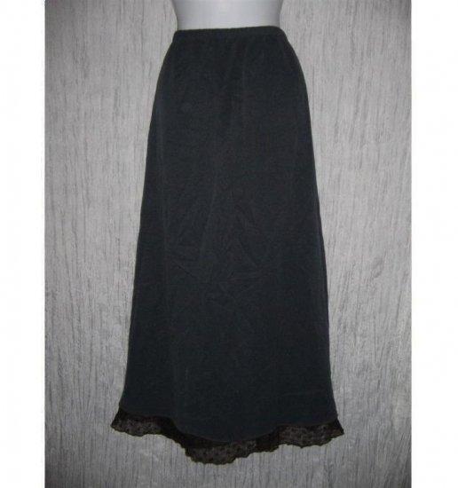 Neil & David Long Jewel Blue Lace Trim Art to Wear Skirt Large L