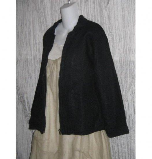 FLAX by Jeanne Engelhart Shapely Linen Zipper Jacket PETITE P