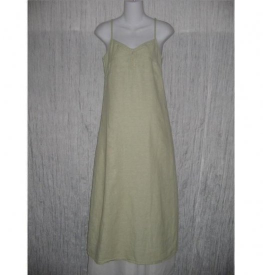 FLAX Soft Green LINEN Slip Dress Jeanne Engelhart Petite P