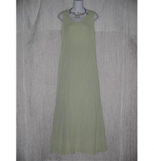 Jeanne Engelhart FLAX Lemon Lime Gingham Slipster Sequence Dress Small S