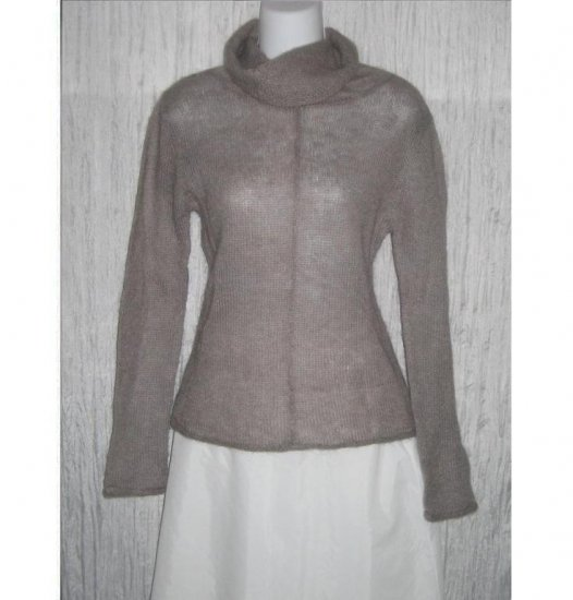 Softest Light Weight Lavender Gray Turtleneck Tunic Sweater Large L