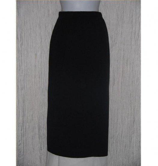 KAREN LESSLY Long Black Acrylic Knit Skirt Petite Medium PM