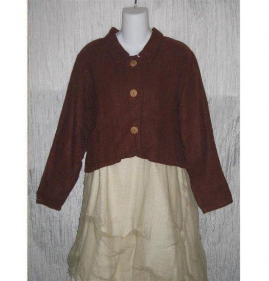 YOON-A-VERSE Mindful Wear Boutique Sienna Hemp Cropped Swing Jacket M L