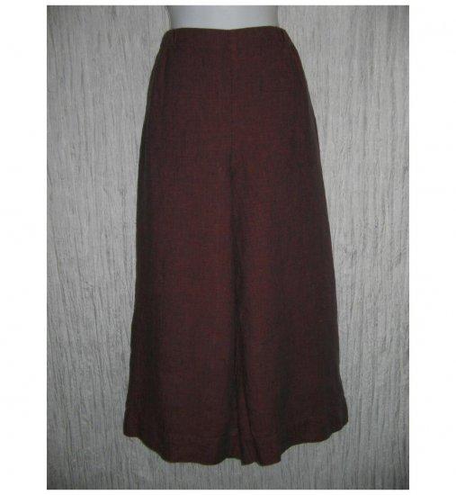 New FLAX Purple LINEN Wide Leg Gauchos Pants Jeanne Engelhart Small S