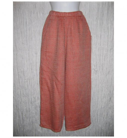 New Flax Red Mosaic Linen Floods Pants Jeanne Engelhart