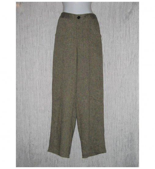 New FLAX Earthy Long LINEN Pants Jeanne Engelhart Small S