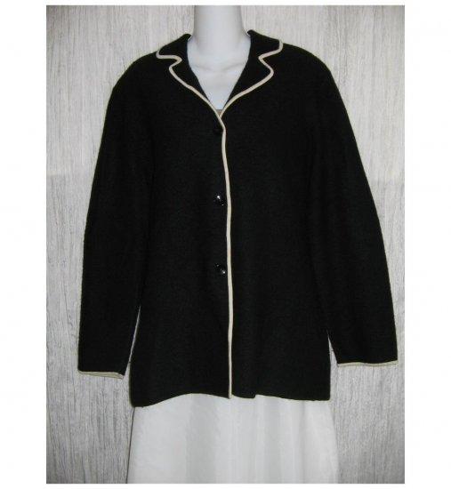 Josephine Chaus Black Wool Button Jacket Cardigan X-Large XL