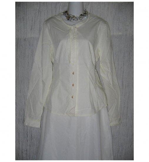 Solitaire Shapely White Cotton Button Shirt Tunic Top X-Large XL