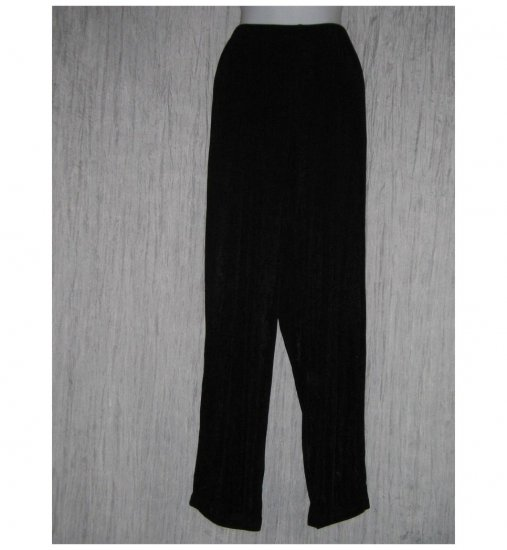 Citiknits Long Loose Slinky Black Knit Pants Large L