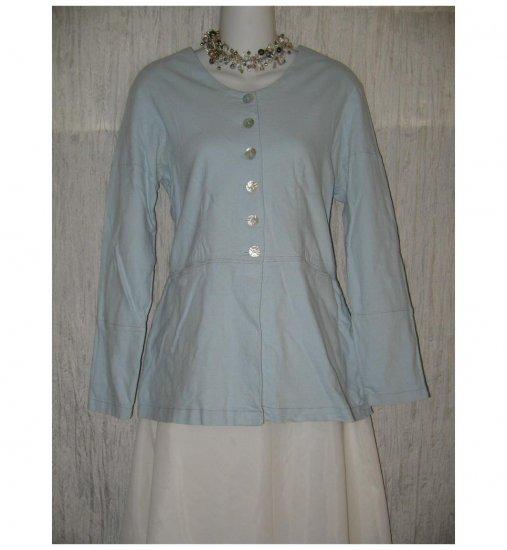 Neesh by D.A.R. Blue Linen Tunic Top Shirt Jacket Small Medium S M