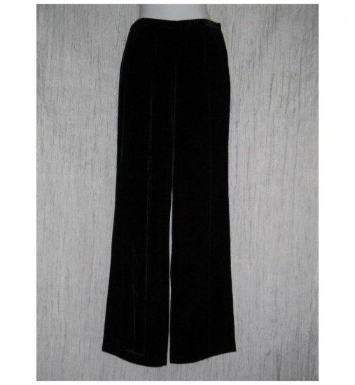 Eddie Bauer Elegant Long Black Rayon Silk Velvet Lagenlook Pants 6