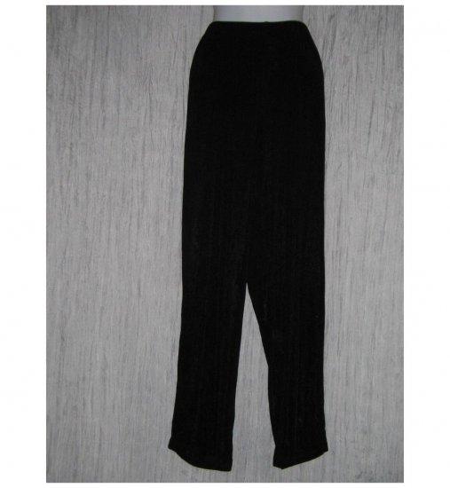 Citiknits Long Loose Slinky Black Knit Pants M L