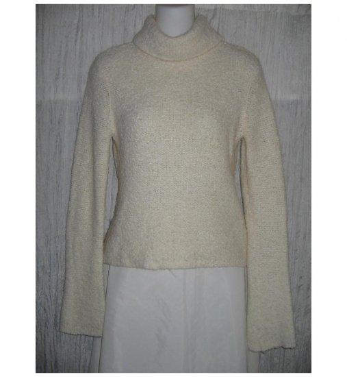 J. Crew Cream Nubby Knit Turtleneck Tunic Sweater Medium M
