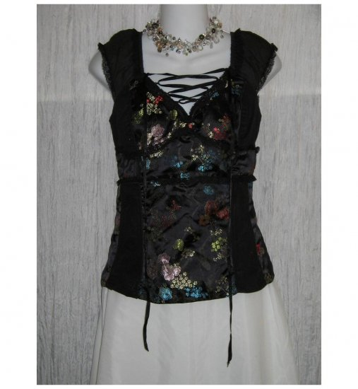 TRIPP Fitted Asian Print Shapely Corset Top Shirt Large L