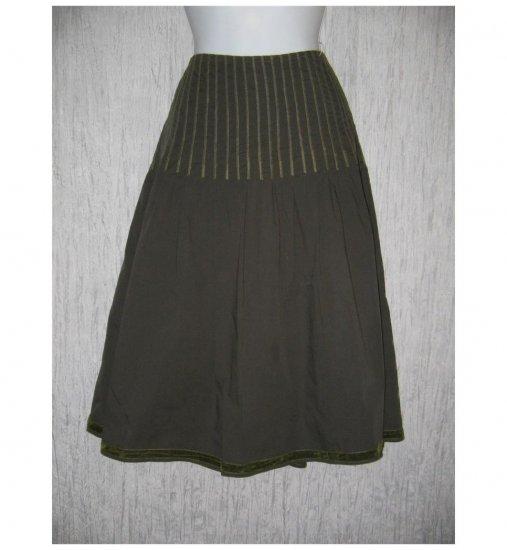 BASIL & MAUDE Full Pleated Calf Length Laced Skirt 12