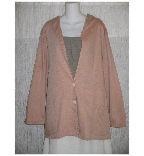 NWT FLAX Soft Cotton Blush Tunic Jacket Blazer Jeanne Engelhart 1G
