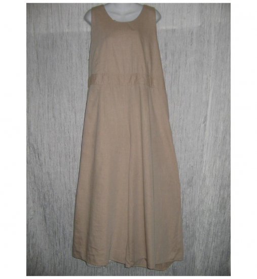 NWT FLAX Soft Cotton Beige Hoverall Overalls Jeanne Engelhart 1G