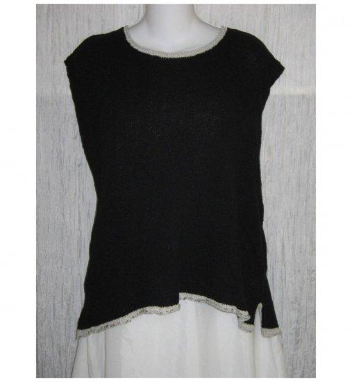 Flax by Angelheart Black Sweater Jeanne Engelhart Generous