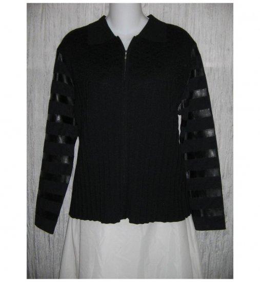 BC Black Cat Fashion Textured Zipped Jacket L XL