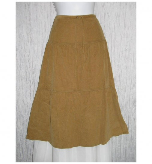 New Solitaire Tan Featherwale Corduroy Shapely Skirt Medium M