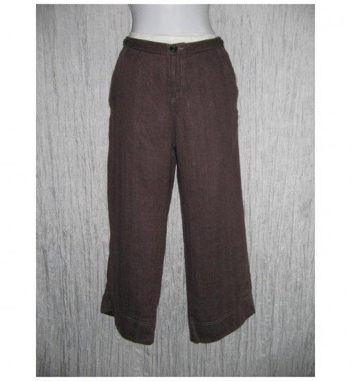 New Solitaire Brown Linen Trousers Pants Medium M