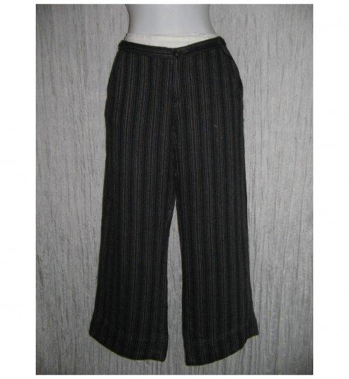 New Solitaire Striped Linen Trousers Pants Medium M