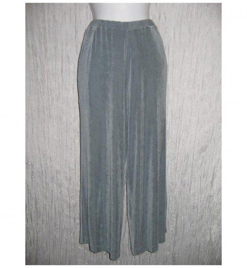 Jeanne Engelhart FLAX Foundations Slinky Gray Wide Leg Pants Large L