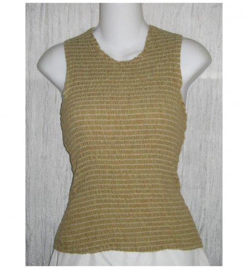 SOLITAIRE Puckered LINEN Pullover Tank Top Shirt Medium M