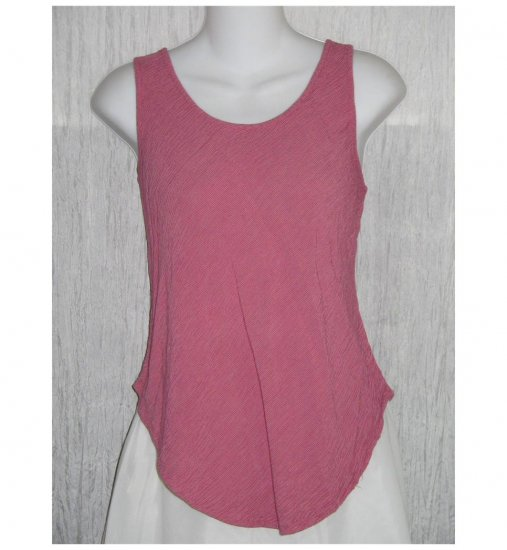 Wisdom Eye Pink Striped Bias Cut Rayon Tank Top Shirt Medium M