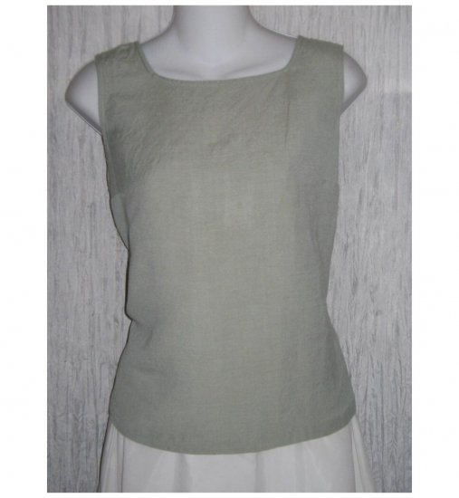 J. Jill Shapely Blue Linen Tank Top Shirt Large L