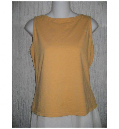 J. Jill Orange Cotton Knit Pullover Tank Top Shirt Large L