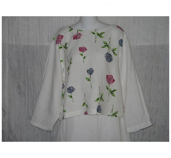Acquarium Floral Pullover Shirt Tunic Top Small S
