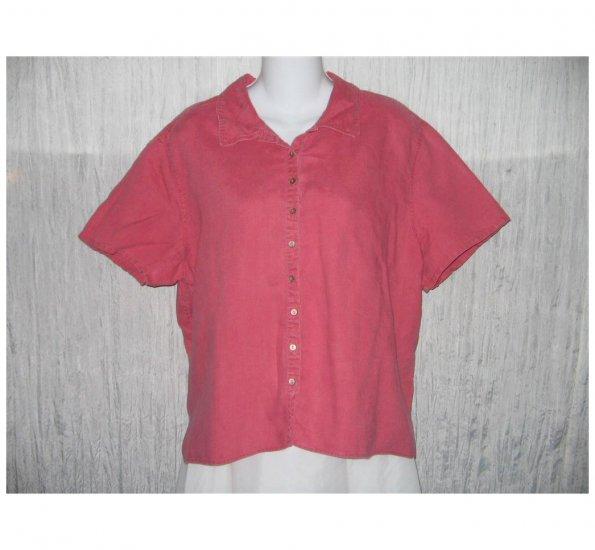 J. Jill Pink Linen Button Shirt Top Large L