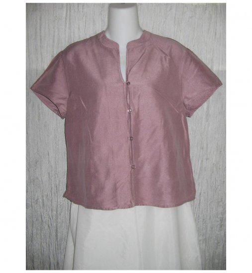 J. Jill Elegant Purple Silk Button Top Size 12