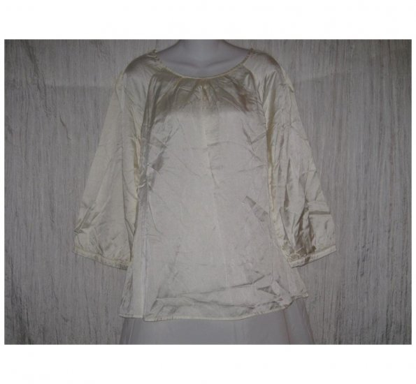 J. Jill Slinky Cream Silk Cotton Tunic Top Shirt X-Large XL