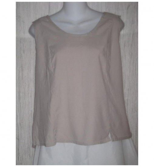 Jeanne Engelhart FLAX Shapely Beige Rayon Tank Top Shirt Medium M