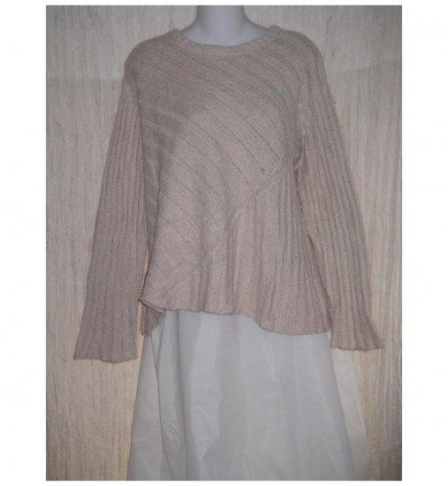 FLAX Loose Soft Cream Pima Cotton Sweater Engelhart M L