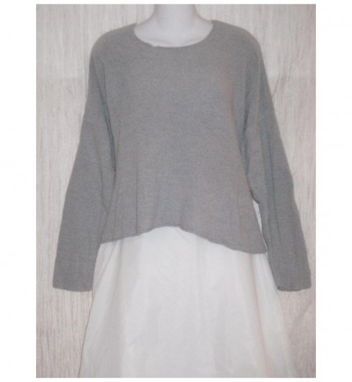 FLAX by ANGELHEART Gray Cashmere Blend Tunic Sweater Engelhart M L