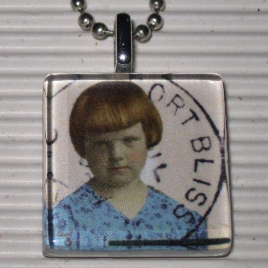 Altered Art to Wear Glass Pendant Necklace Fort Bliss