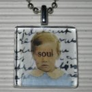 New Altered Art to Wear Glass Necklace Eyes to the Soul