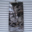 Alice in Wonderland Tile Necklace Mock Turtle & Gryphon
