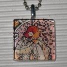 Art Glass Necklace Alphonse Mucha La Dame Aux Camelias