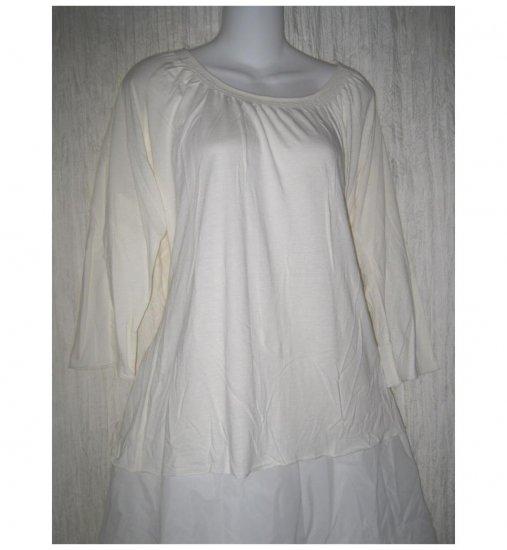 NEW J. Jill Soft Cream Modal Cotton Knit Pullover Shirt Tunic Top 2X