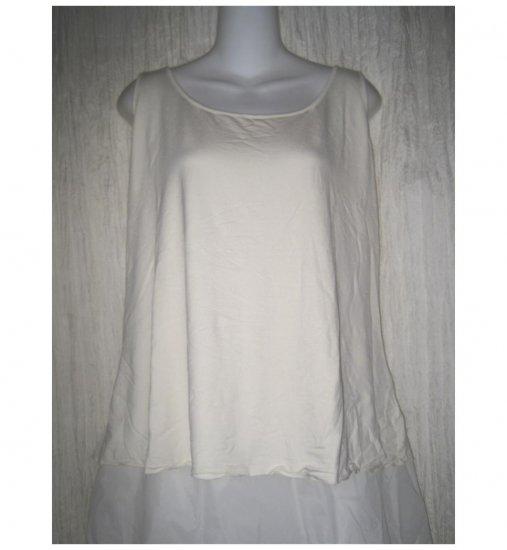 NEW J. Jill Stretch Cream Rayon Knit Pullover Shirt Tank Top 3X