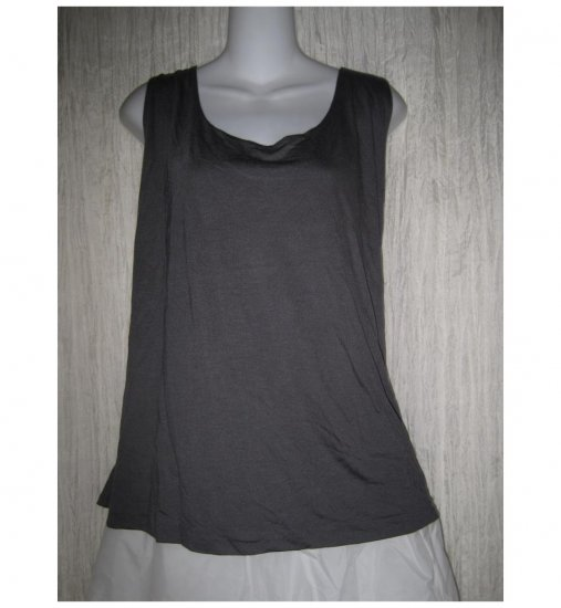 NEW J. Jill Soft Modal Rayon Knit Pullover Shirt Tank Top Steel Gray 4X